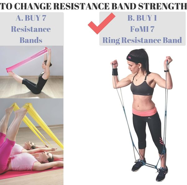 FOMI 7 Ring Resistance Exercise Band