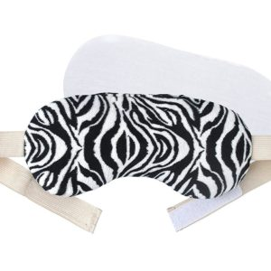 FOMI Hot Eye Mask | Clay Bead Filling, Lavender Scented, Zebra Design - Soothing Moist Heat - FoMI Care
