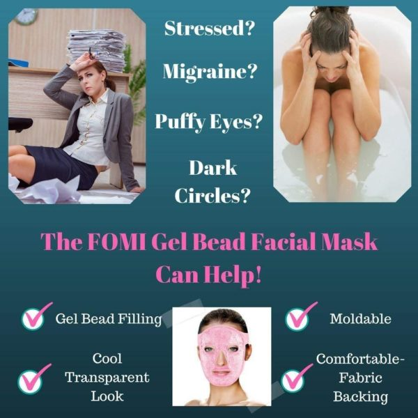 FOMI Hot Cold Gel Bead Full Facial Mask - FoMI Care