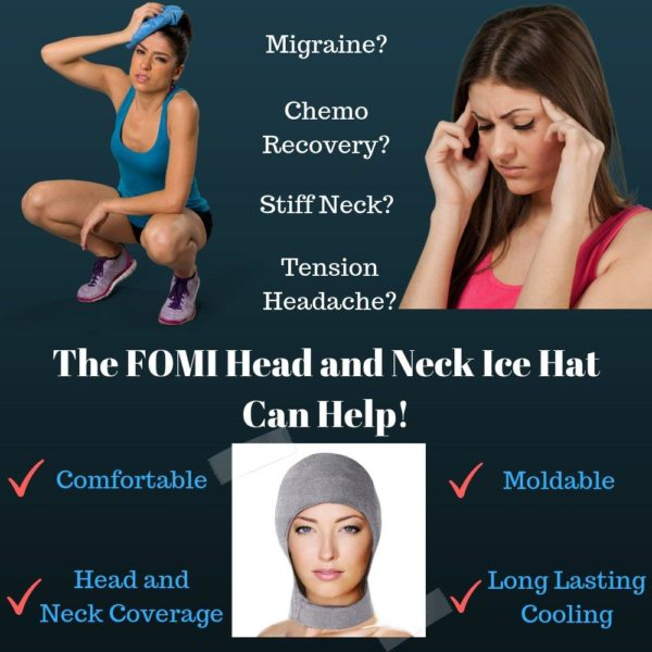 FOMI Migraine Gel Head and Neck Ice Hat | Headache Relief and Chemo Recovery - FoMI Care