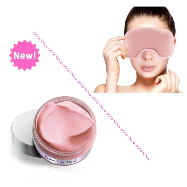 FOMI Rose Clay Mask Set | Cold Therapy Eye Mask and Hydrating Face Mask - FoMI Care