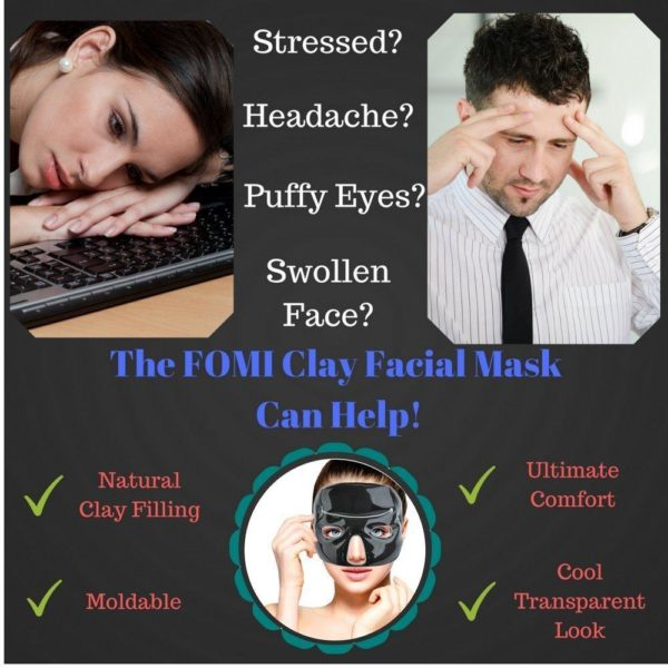 FOMI Cold Clay Facial Ice Mask | Plus 2 Eye Compresses - FoMI Care