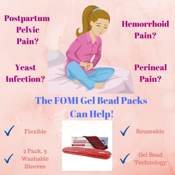 FOMI Hemorrhoid and Perineal Gel Bead Hot Cold Pack | 2 Pack, 3 Washable Sleeves - FoMI Care