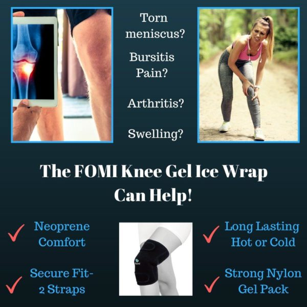 FOMI Knee Hot Cold Ice Wrap | Comfortable Neoprene Pouch, Nylon Gel Pack - FoMI Care